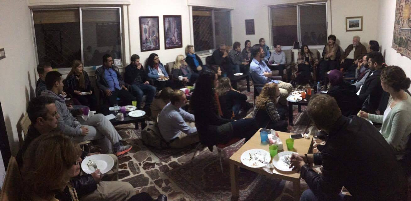 Meeting with American students from various Christian liberal arts colleges and universities